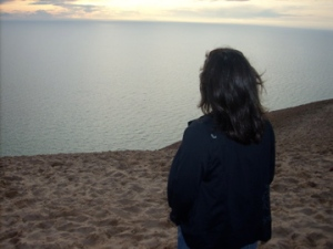 Edge of the world—or at least the edge of Lake Michigan.