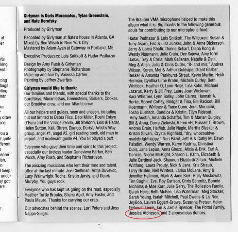 Yes, that's my name in the liner notes! Yes, I'm goofily excited by this.