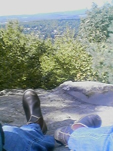 Boots on the rock.