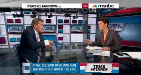 Rachel Maddow interviews Tom Ridge.
